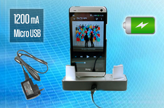 1200mA 5V Micro-USB Desktop Charging Cradle for Mobile Phones