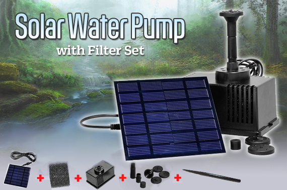 New Solar Water Pump with Filter Set