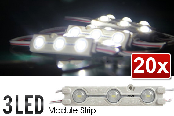 20x Waterproof Super Bright 3-LED Strip Module Light with Lens