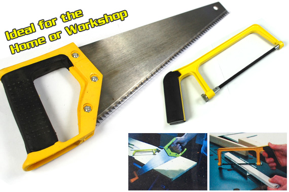 Mini Hand Saw and Composite Hack Saw, 2-Piece Set