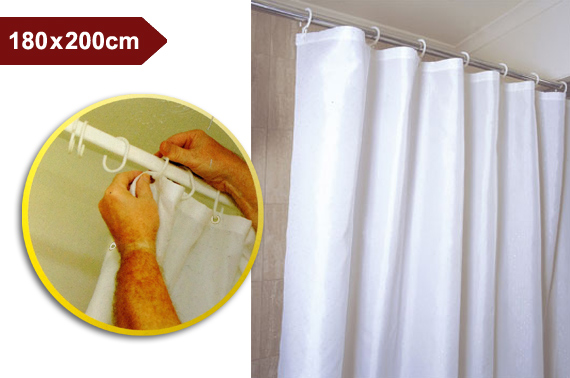PVC Shower Curtain 180x200cm