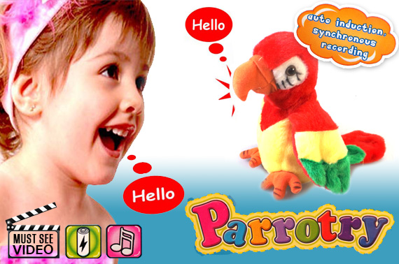 Talking Back Parrot Toy