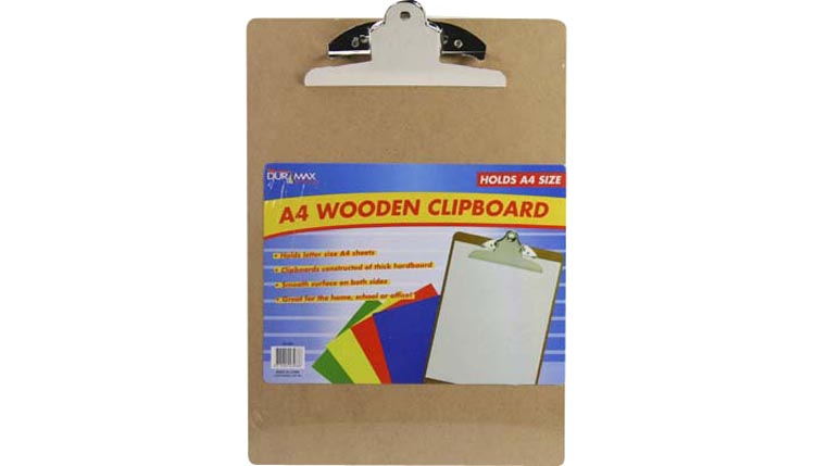 Wooden Clipboard for A4 Size Sheets