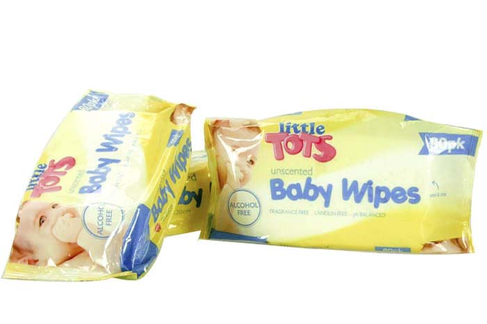 80pc Unscented Baby Wipes 15x20cm