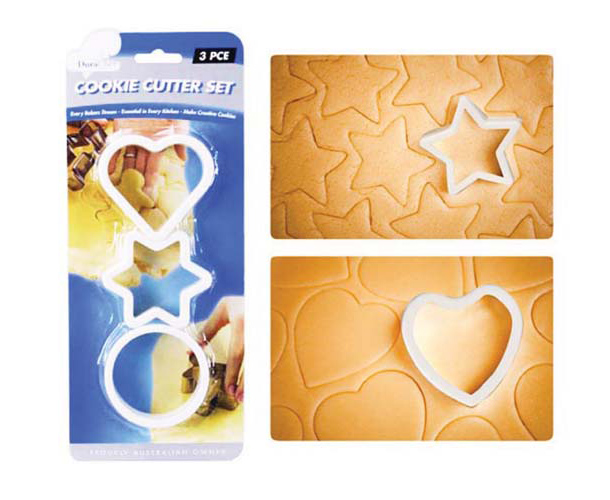 3pc Cookie Cutter Set