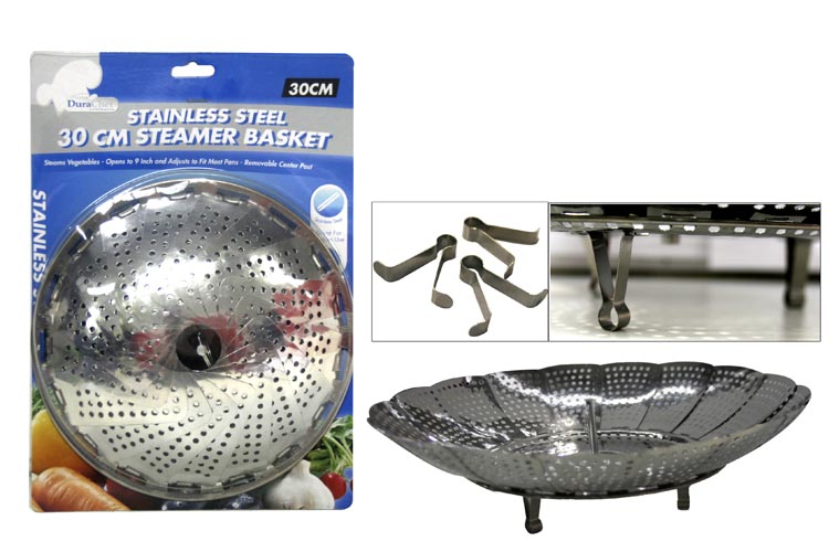 30cm Stainless Steel Steamer Basket