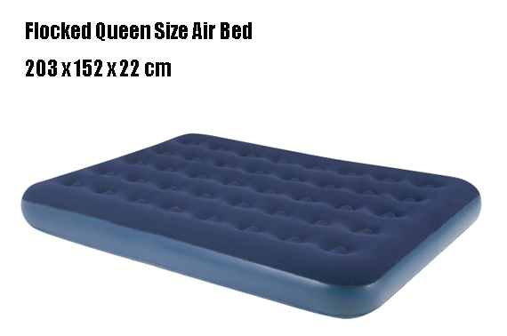 Jilong Relax Flocked Air Bed Queen Size 203 x 152 x 22 cm
