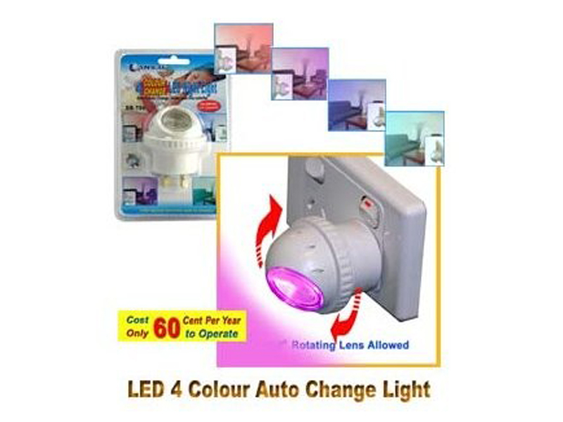 4 Colour Changing LED Night Light