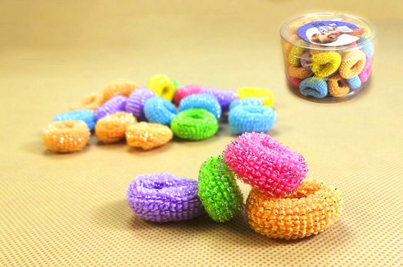 180-Piece Mixed Colour Scrunchy Elastic Hair Tie