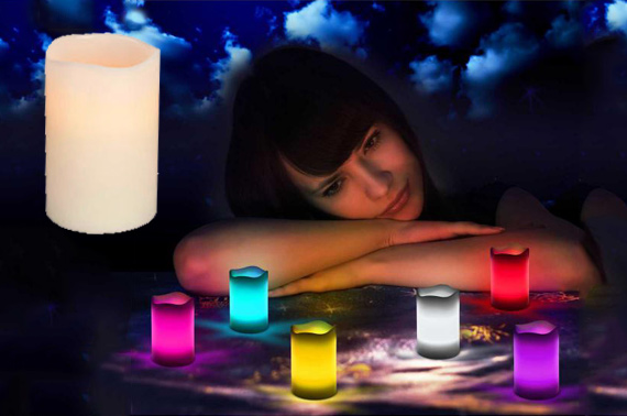 6-Piece Colour Changing LED Wax Candle Set