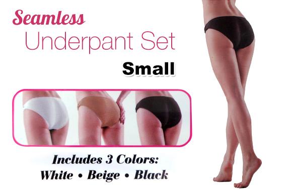4x 3-Pieces Womens Seamless Underpants (Small)