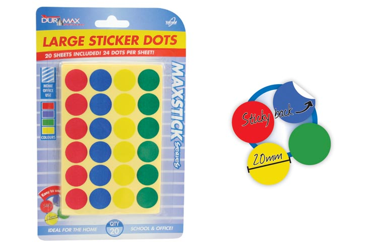480pc Large Sticker Dot Pack