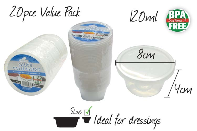 20pc Sauce Container Set