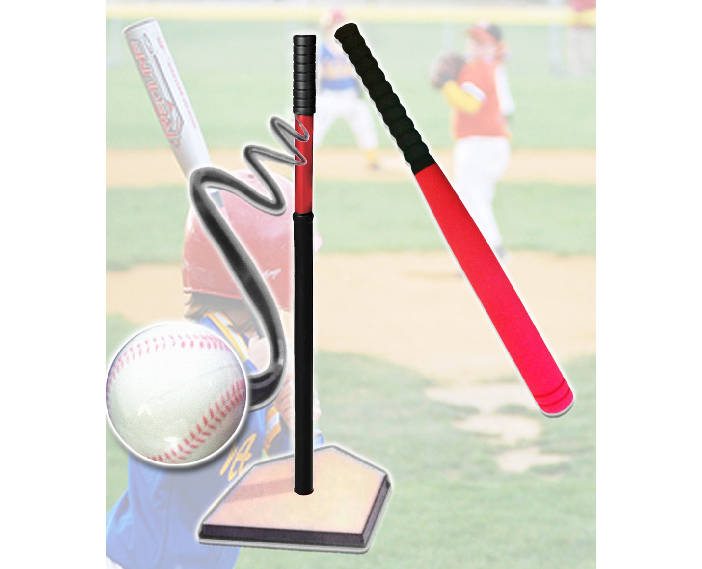 Deluxe Tee Ball Set Safe Baseball Training Kit