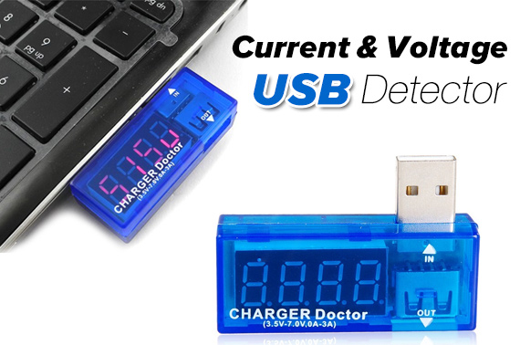 Portable USB Power Current & Voltage Detector