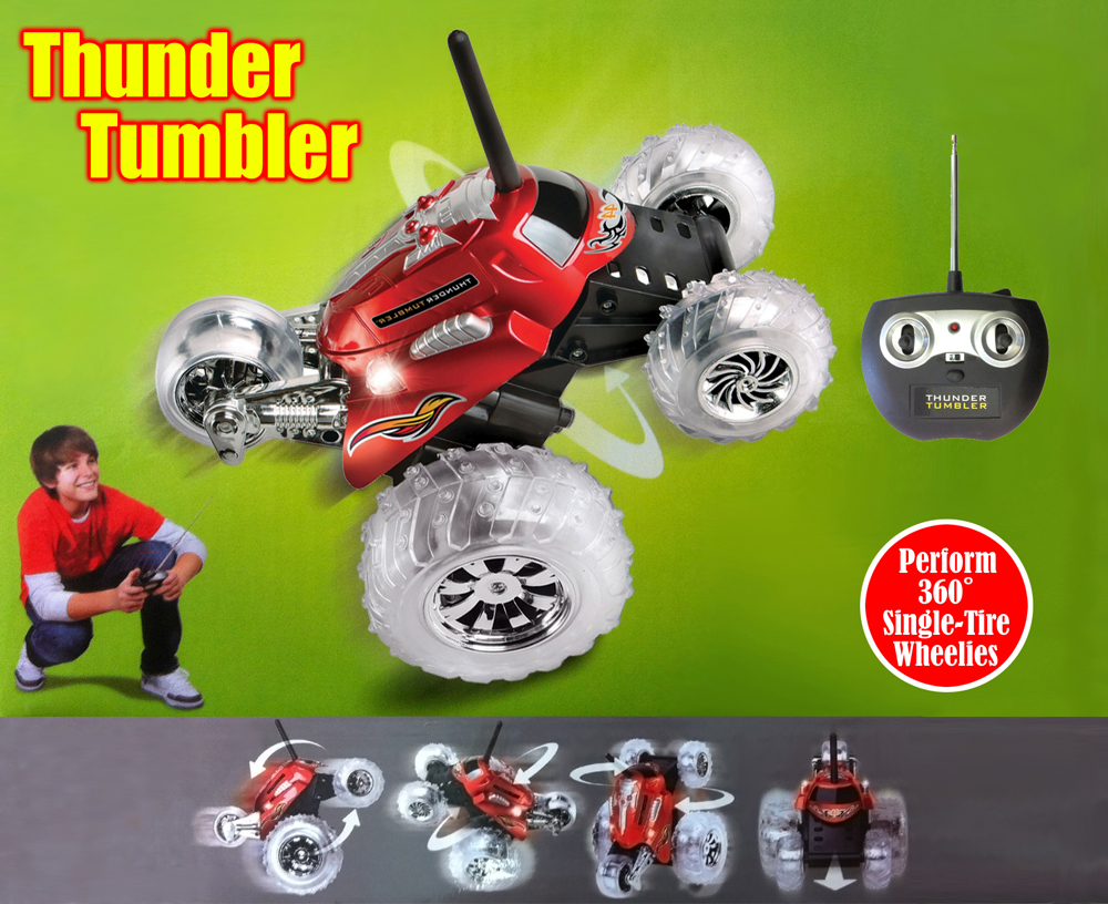 Thunder Tumbler Remote Control 360 Degree Stunt Monster Car