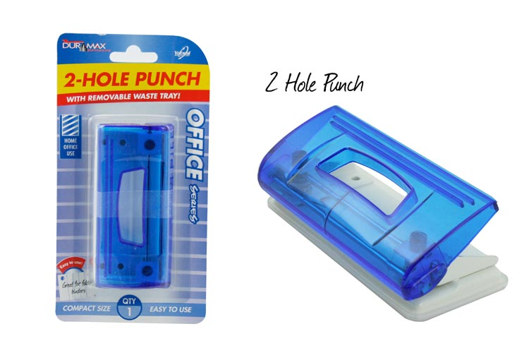 2-Hole Punch with Removable Waste Tray