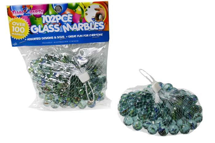 102pc Glass Marble Pack