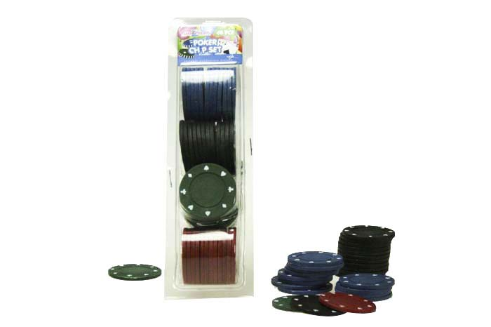 48pc Poker Game Chip Set