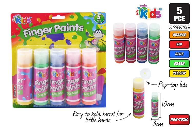 5pc Finger Paint Tube Set