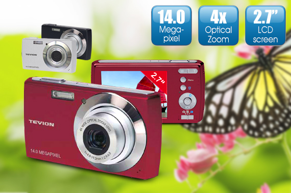 Refurbished Tevion 14.0 MP Digital Camera (MD 86497) with 4GB SD Card