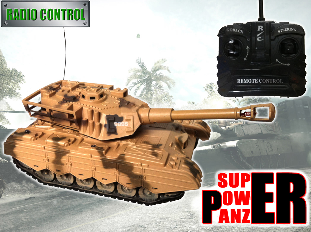 Radio Control RC Super Power Panzer Tank Toy