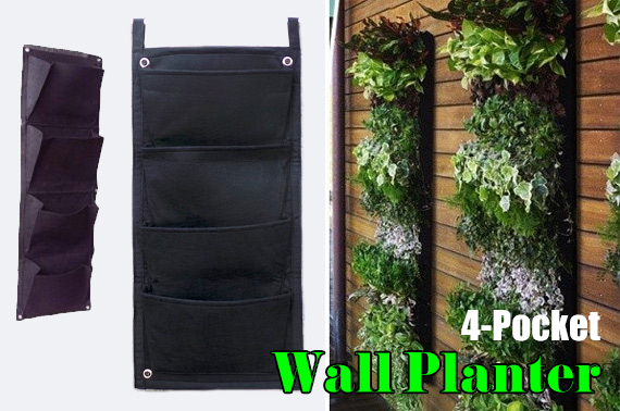 4-Pocket Hanging Vertical Garden Planters