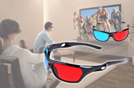 Durable Acrylic Lens Red & Blue 3D Glasses