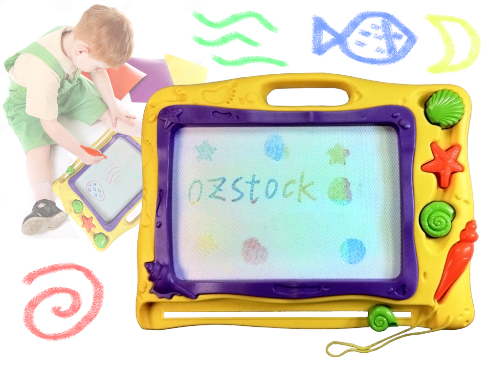 Magnetic Colourful Drawing Board Doodle Sketch Pad For Kid Age 3+