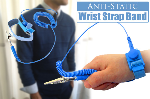 Anti-Static Wrist Strap Band with Grounding Wire