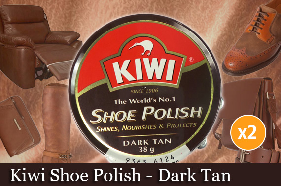 4x Kiwi Shoe Polish - Dark Tan