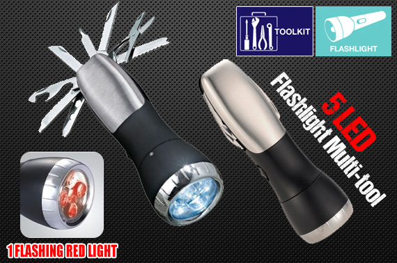 13-in-1 Flashlight with Multi-tool