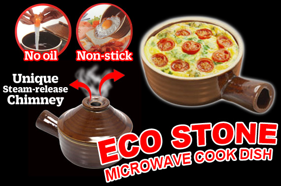 Non-stick Ceramic Microwave Cooking Pot with Lid