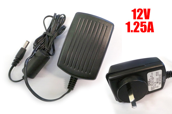 12V 1.25A Wall Power Adapter (AU Plug)