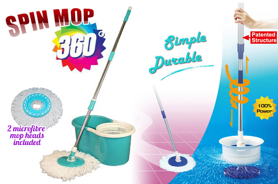 360 Degree Hand Press Spin Mop