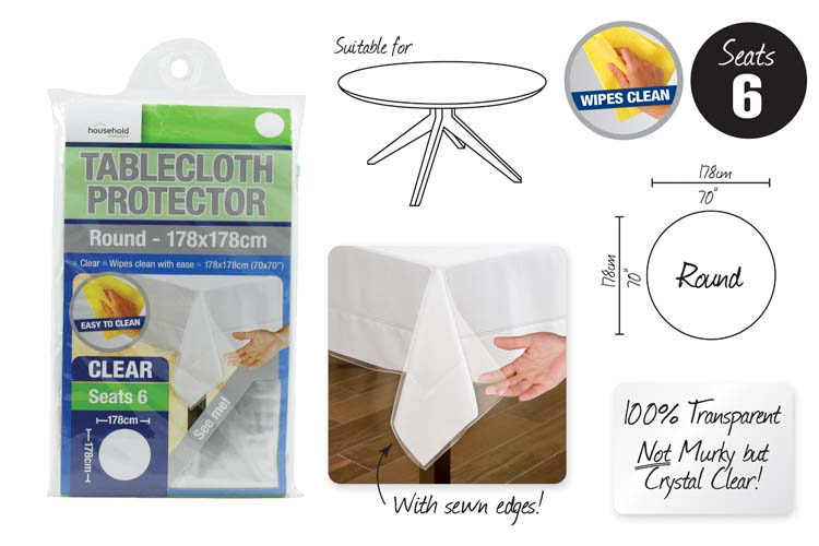 Round Tablecloth Protector - 178cm Diameter