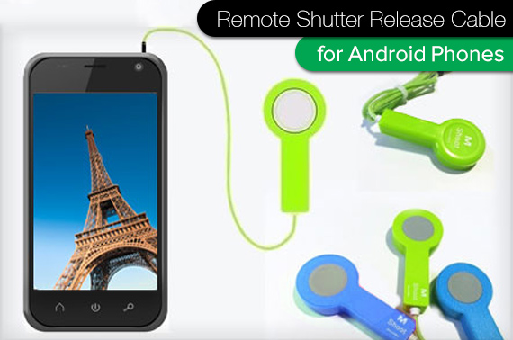 Camera Remote Shutter Release Cable for Android Devices