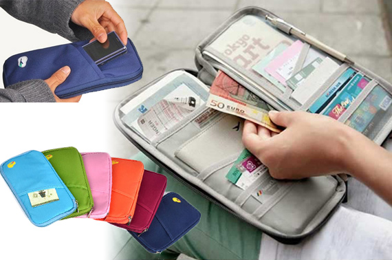 Travel Wallet with Zipper