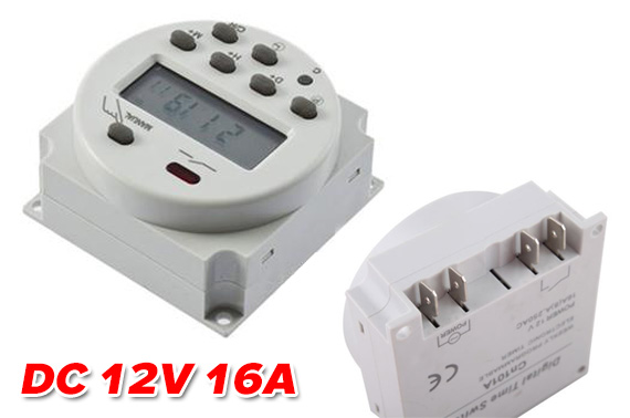DC 12V 16A Mini LCD Power Weekly Programmable Timer