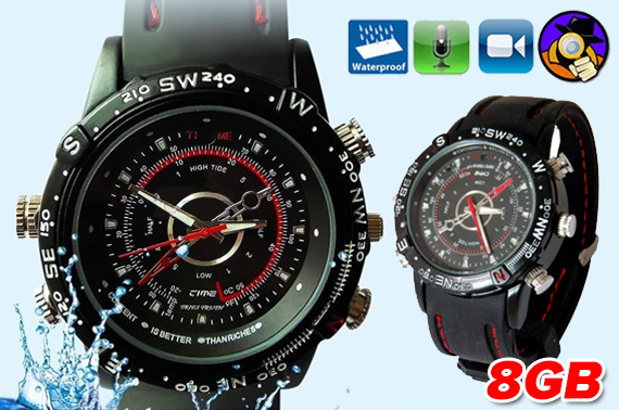 8GB Waterproof Wrist Watch Spy Camera