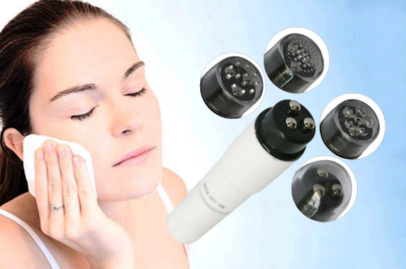 Multifunction Mini Massager Pen with 4 Interchangeable Massage Heads