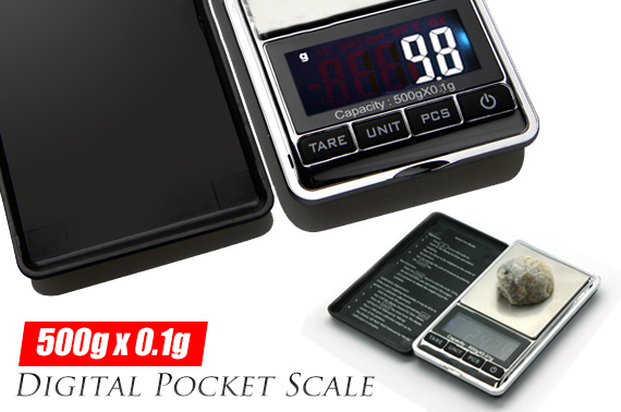 Digital Pocket Precision Scale 500g x 0.1g