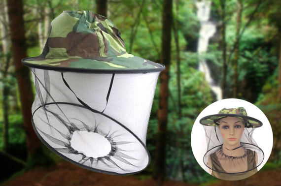 Camouflage Fishing Hat with Head Protect Mesh