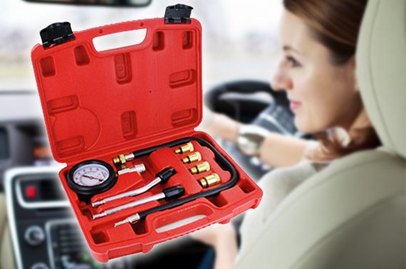 Car Petrol Engine Compression Tester Kit