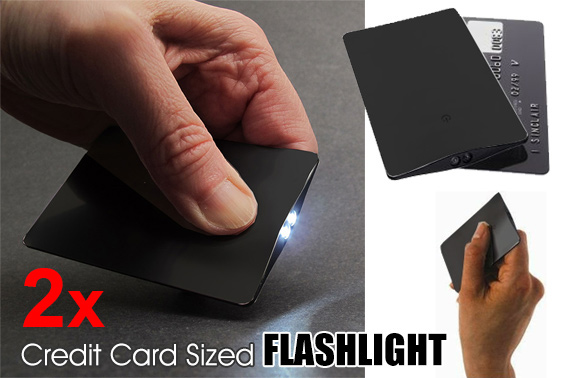 2x Credit Card Sized LED Flashlight