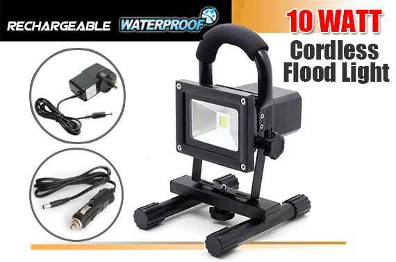 Cordless Rechargeable LED Flood Light 10W