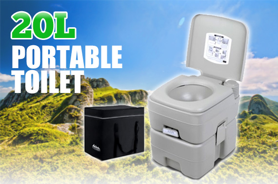 20L Outdoor Portable Camping Toilet with Bonus Carry Bag