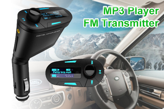 Wireless Car MP3 Player and FM Transmitter Kit