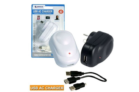 AC CHARGER WITH USB OUTLET