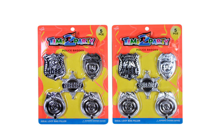 5pc Police Badge Toy Set